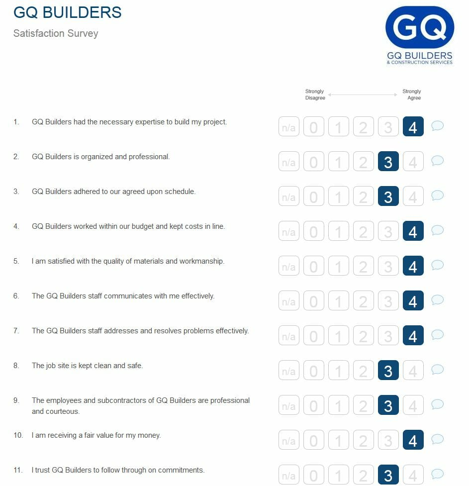 Guildquality surveys get a new look guildquality for New customer questionnaire template