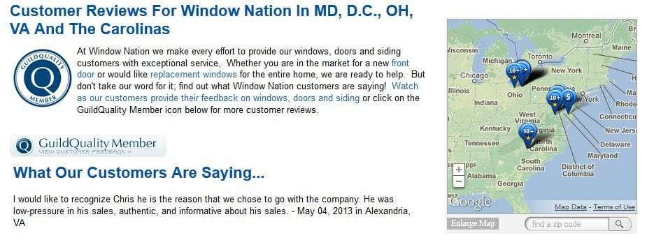 Guildquality success story window nation on measuring for Window nation reviews