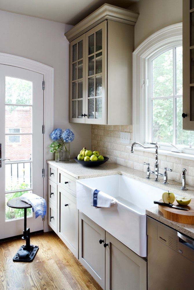Photo By Wentworth, Inc.. Row House Kitchen Remodel