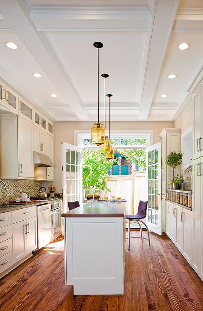 Photo By Wentworth, Inc.. Historic Townhouse Kitchen