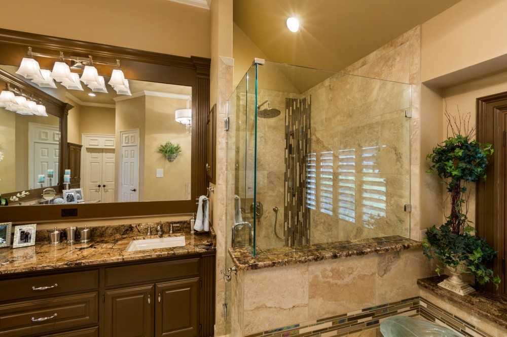 Photo By Signature Home Services. Bright Traditional Master Bath