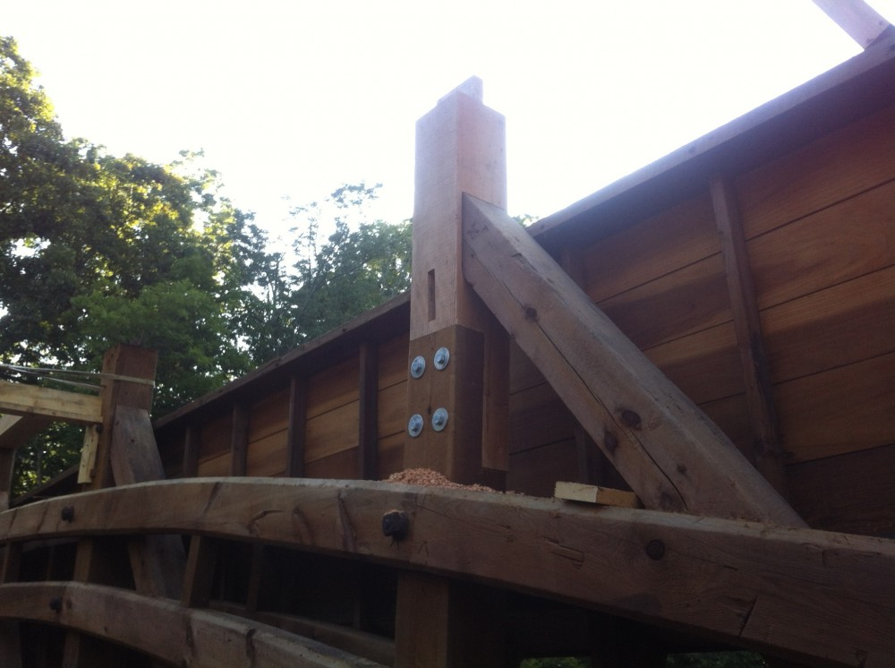 Photo By Lancaster County Timber Frames, Inc.. Rapps Dam Covered Bridge