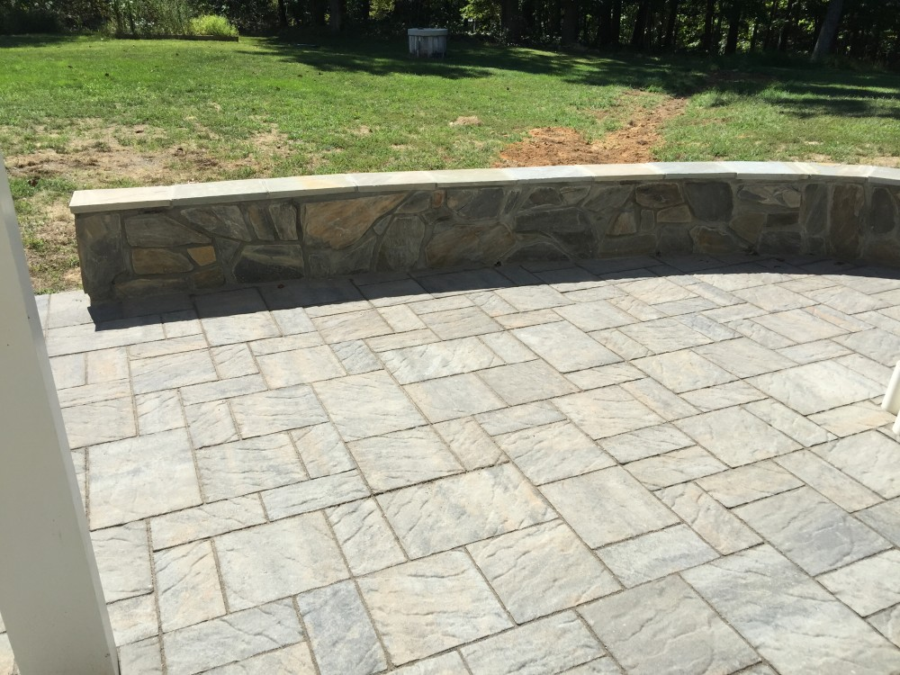 Photo By American Exteriors & Masonry. Deck, Screened Room, And Paver Patio In Round Hill, VA