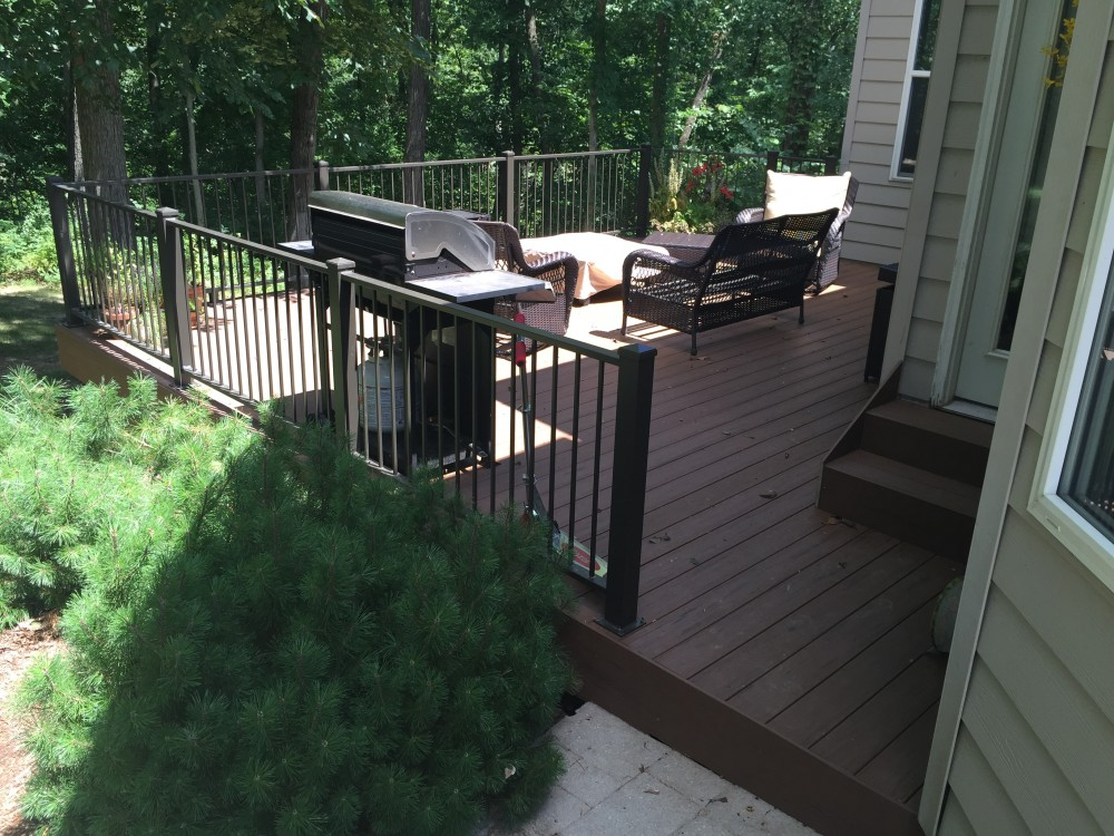 Photo By TrueSon Exteriors. Composite Deck