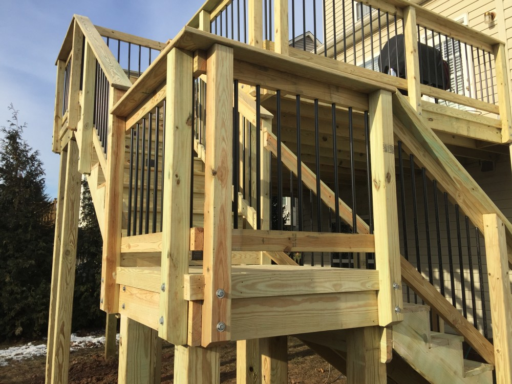 Photo By American Exteriors & Masonry. Wood Deck In Leesburg, VA