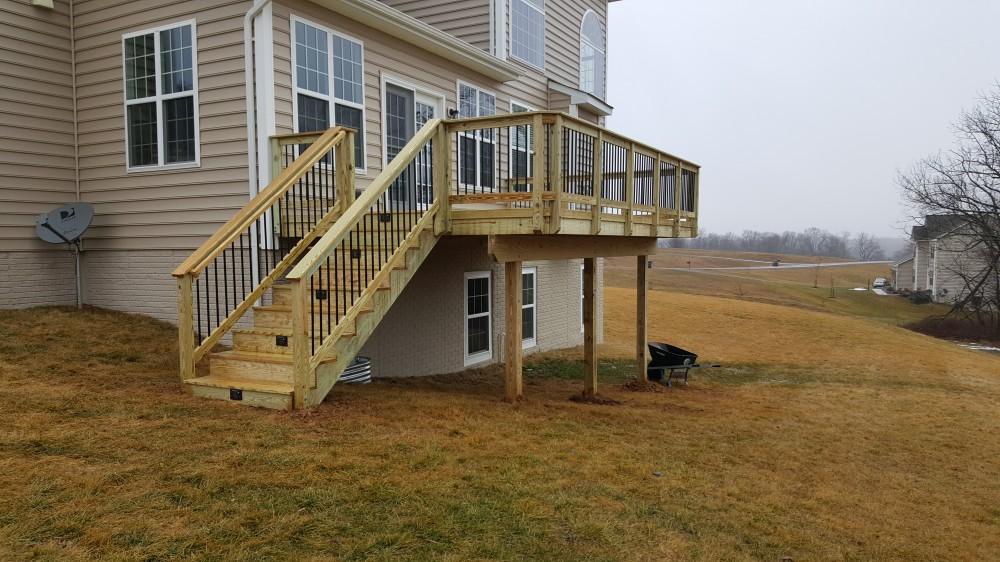 Photo By American Exteriors & Masonry. Wood Deck In Lovettsville, VA