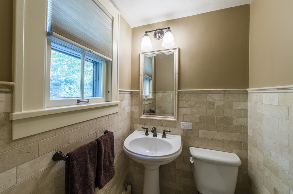 Photo By Karlovec & Company Design/Build Remodel. Powder Room & Dining Room Renovation