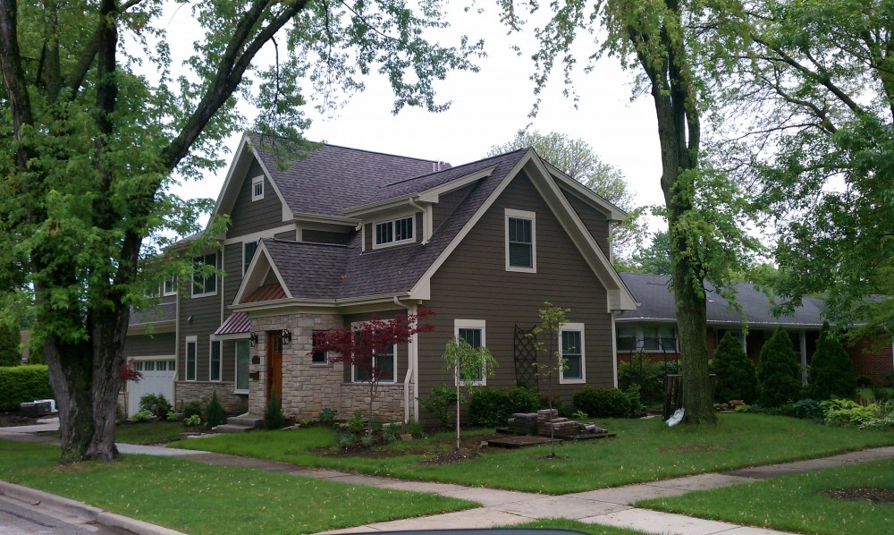 Photo By Erdmann Exterior Designs Ltd.. Custom Home Addition, James Hardie Siding: Arlington Heights, IL