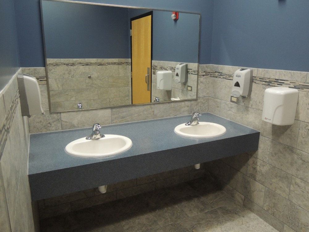 Photo By Scholl Construction. Commercial Bathroom Remodel