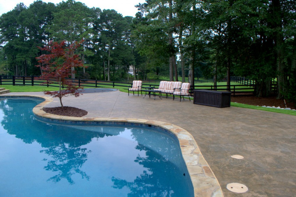 Photo By Brown's Pools & Spas. A Swimming Pool In A Country Setting