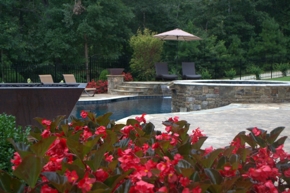Photo By Brown's Pools & Spas. Custom Designed Gunite Pool