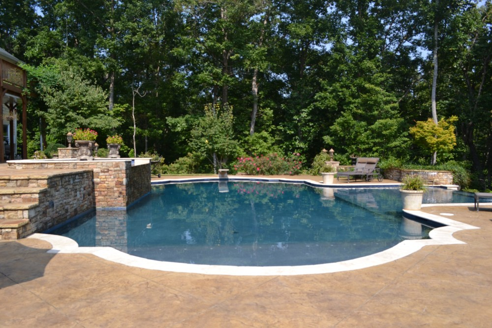 Photo By Brown's Pools & Spas. Classic Design