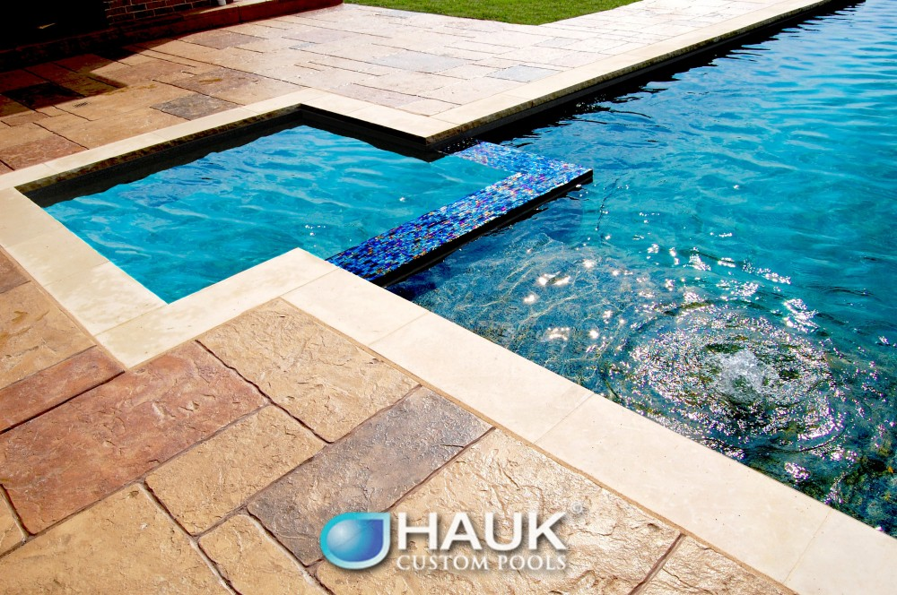 Photo By Hauk Custom Pools, LLC. Hauk Custom Pools Formal Geometric Designs