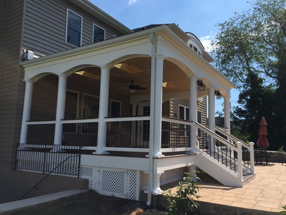 Photo By American Exteriors & Masonry. Porch And Patio In Chantilly, VA.