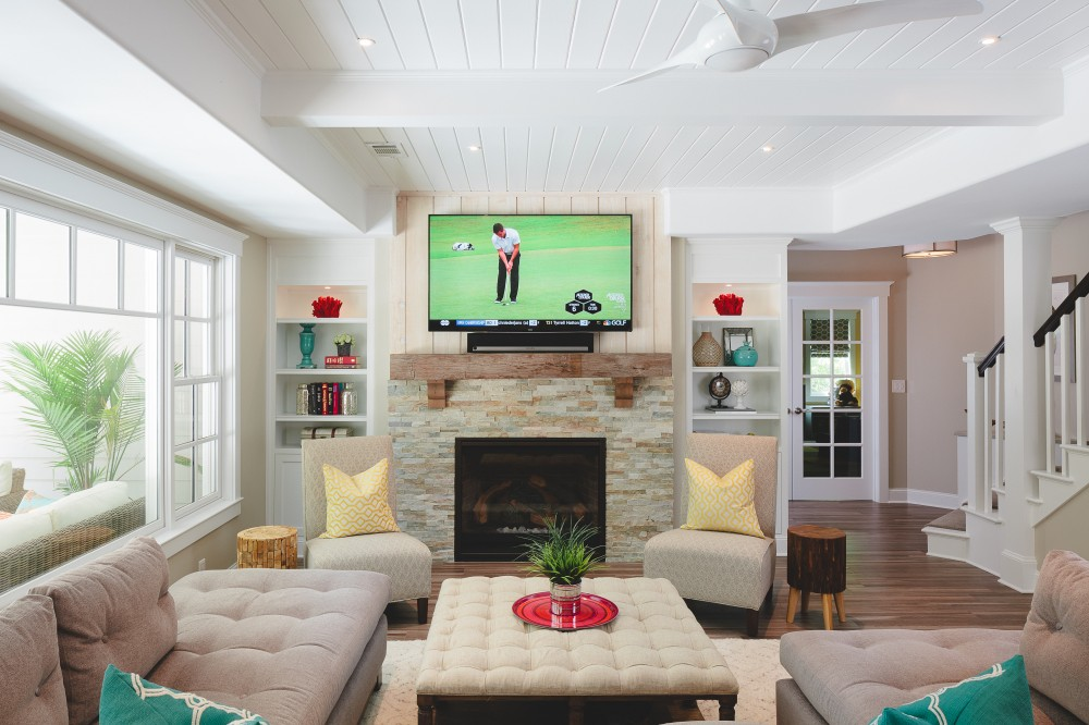 Photo By Handcrafted Homes, Inc.. Terrace Level Remodel