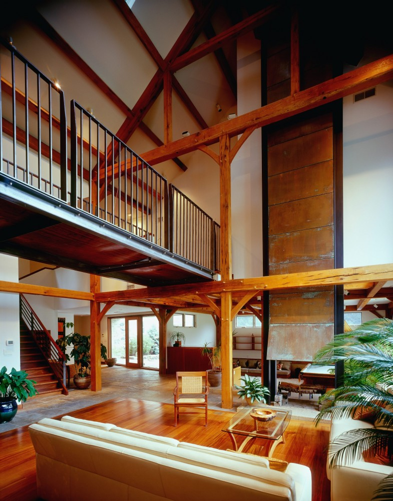 Photo By Lancaster County Timber Frames, Inc.. Timber Framing Examples