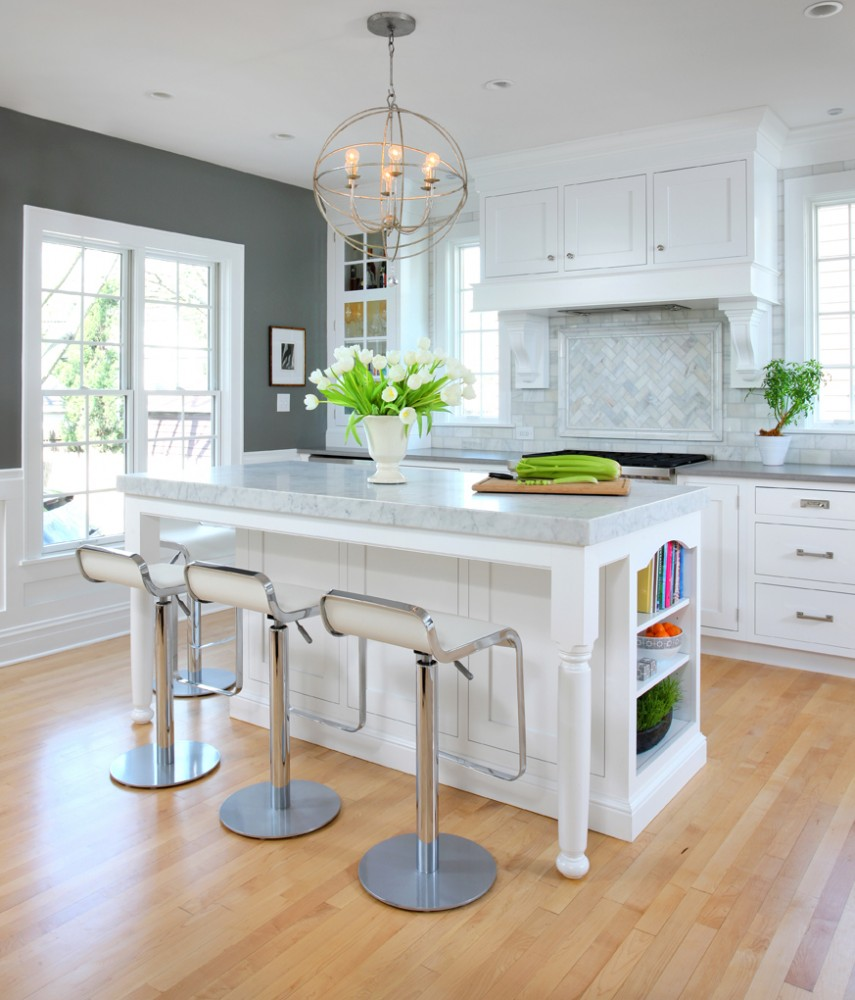 Photo By Normandy Remodeling. Soothing Gray & White Kitchen