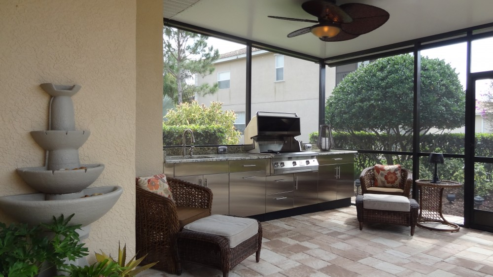 Photo By Absolute Aluminum. Outdoor Kitchen And Comp Roof