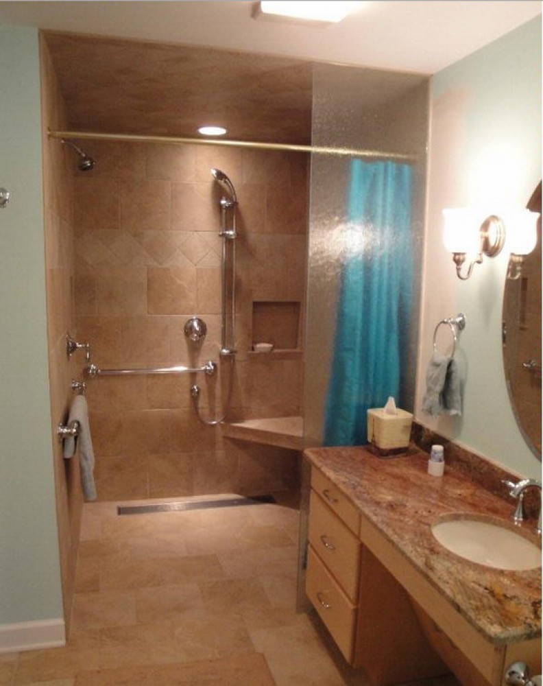 Photo By Extended Home Living Services (EHLS) & To The Top Home Elevators. Accessible Bathrooms