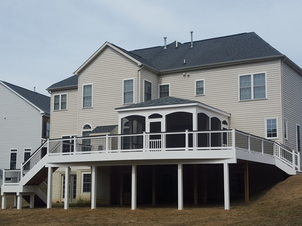 Photo By American Exteriors & Masonry. Deck And Screened Room In Chantilly, VA