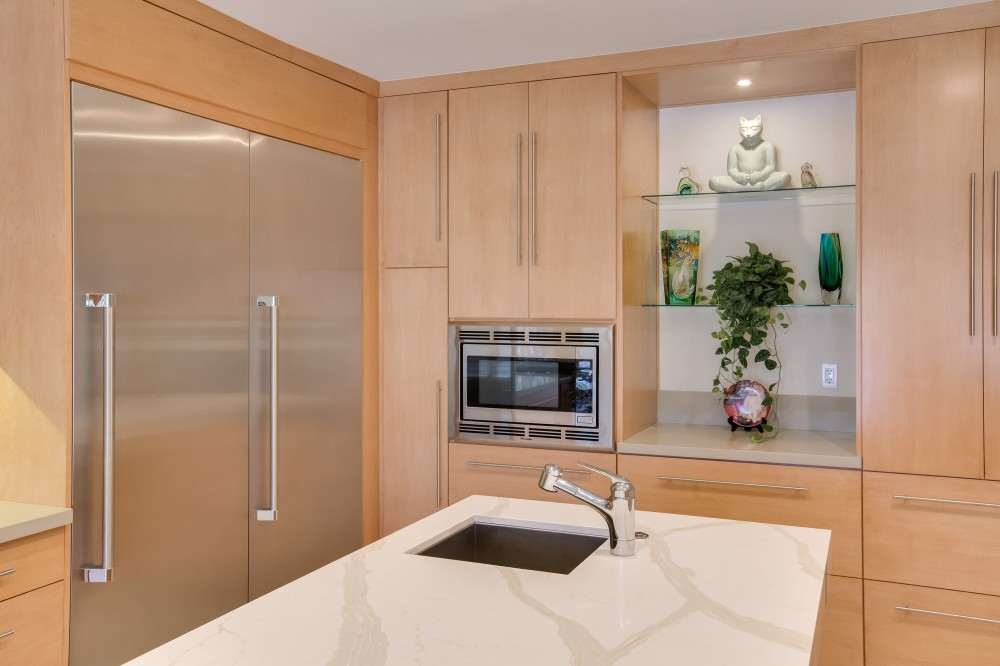 Photo By Reborn Cabinets, Inc.. Modern Kitchen Remodel