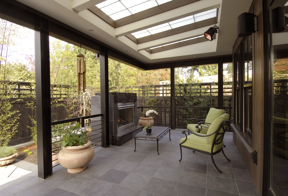 Photo By Prestige Residential Construction. Outdoor Living Area Entry