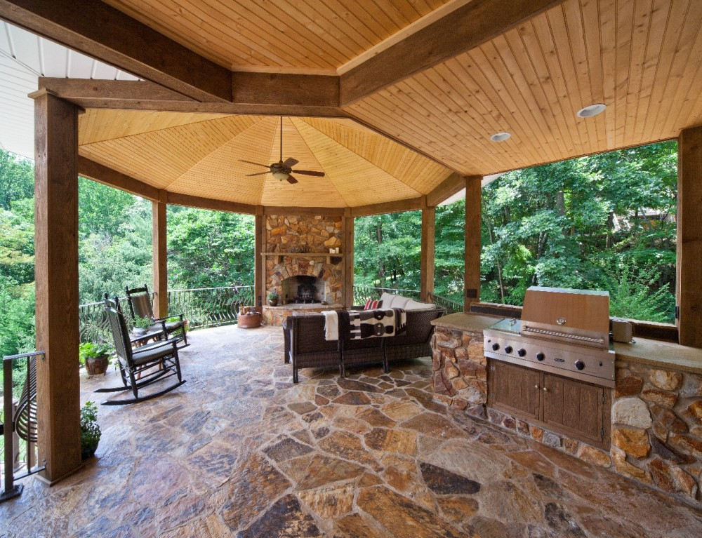 Photo By Pitman Construction. Outdoor Living Area Entry