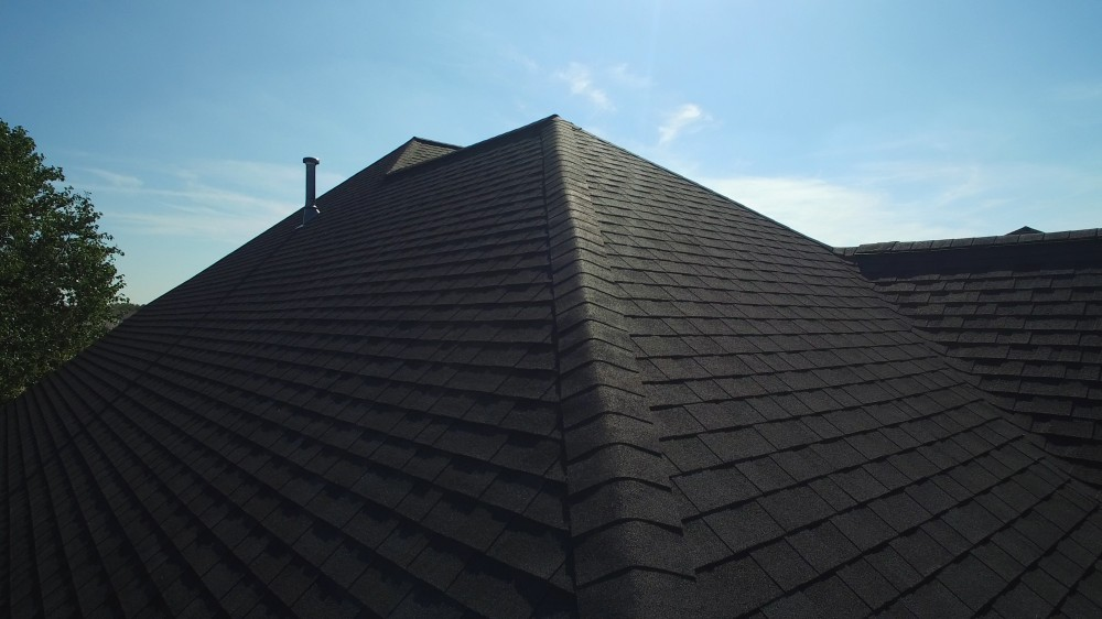 Photo By Apple Roofing. Onyx Black Roof