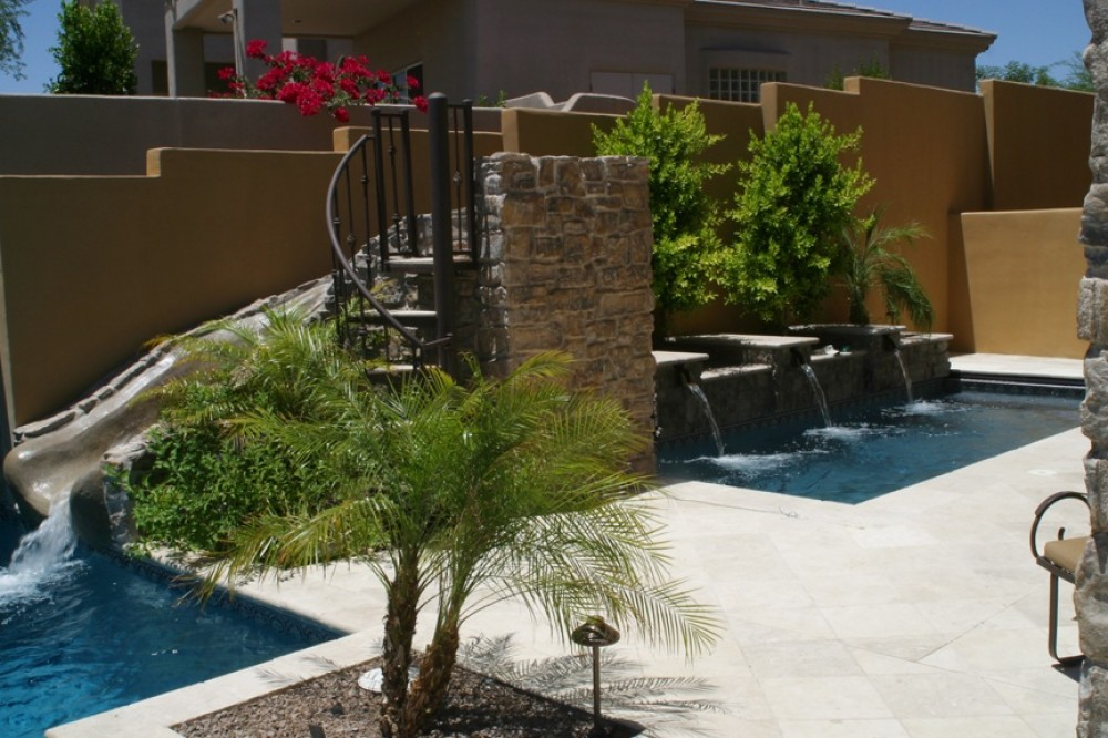 Photo By Presidential Pools & Spas. Outdoor Living Area Entry