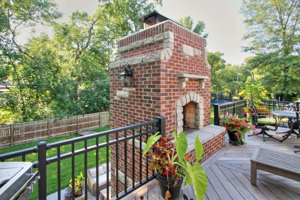 Photo By Mosby Building Arts. Outdoor Fireplace And Deck