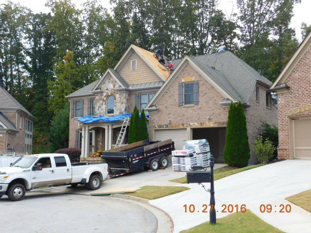 Photo By Accent Roofing / LeakSmith. Work In Progress