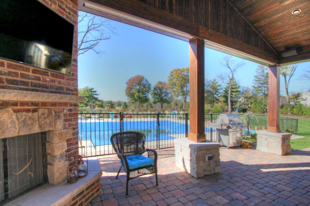 Photo By Mosby Building Arts. Outdoor Fireplace And Covered Patio