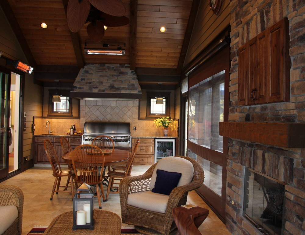 Photo By Thelen Total Construction Inc. Rustic Retreat On Lauderdale Lakes