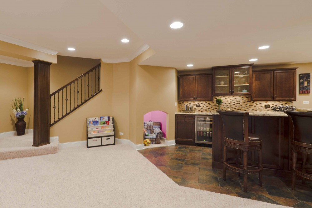 Photo By Synergy Builders. Winters Basement