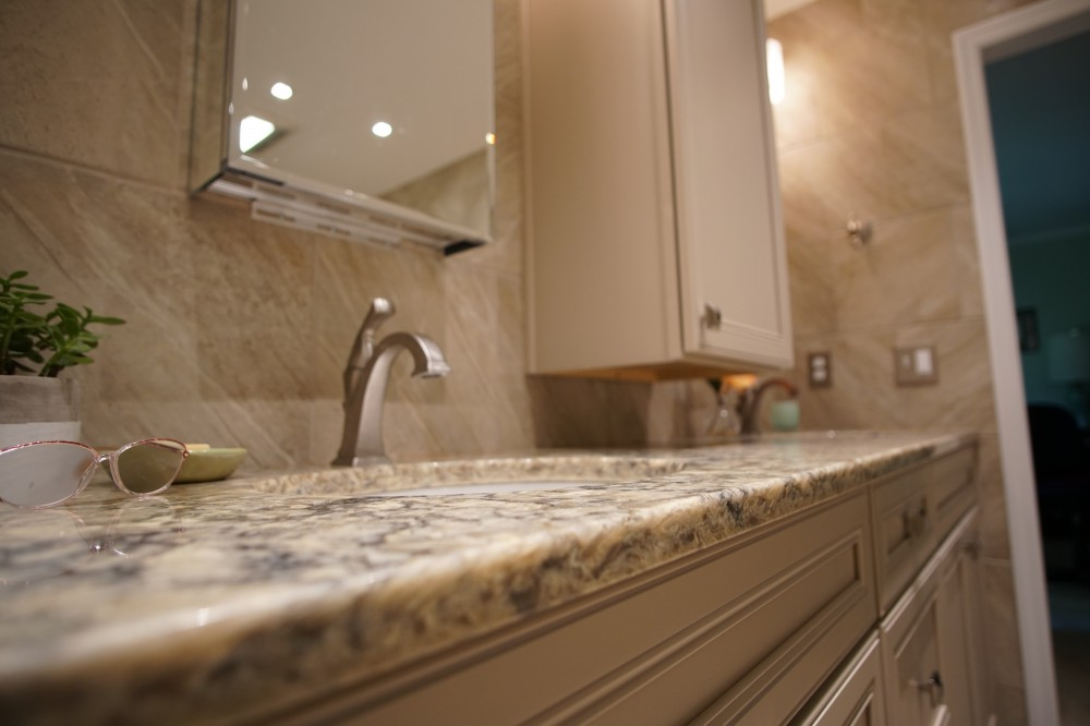 Photo By JOMA Construction. Aging In Place Master Bath