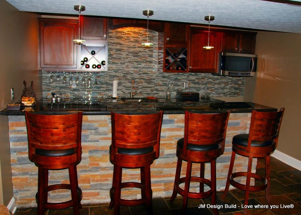 Photo By JM Design Build & Remodeling. Basement Finish - Strongsville, OH