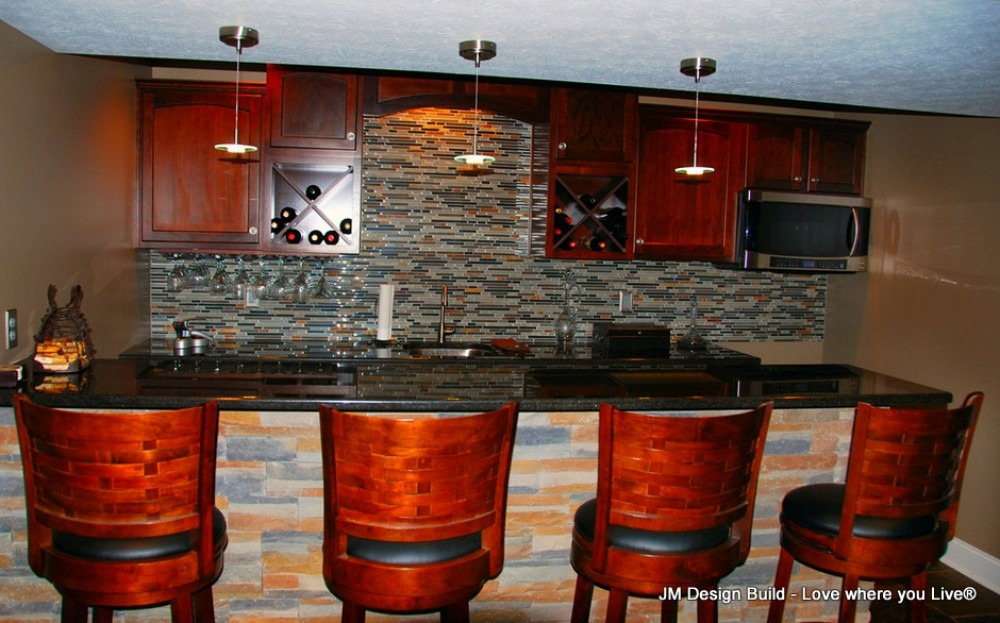 Photo By JM Design Build & Remodeling. Basement Finish - Strongsville, OH