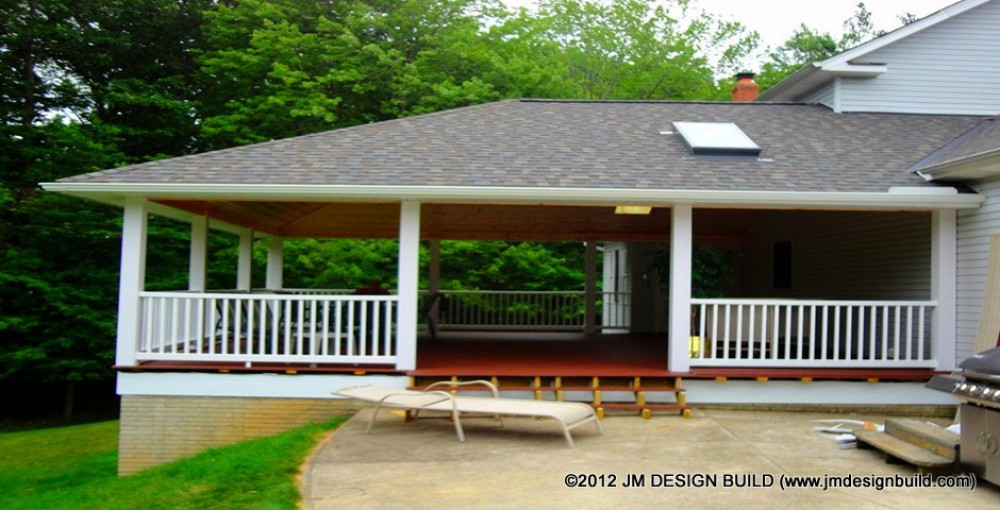 Photo By JM Design Build & Remodeling. Covered Deck - Broadview Hts