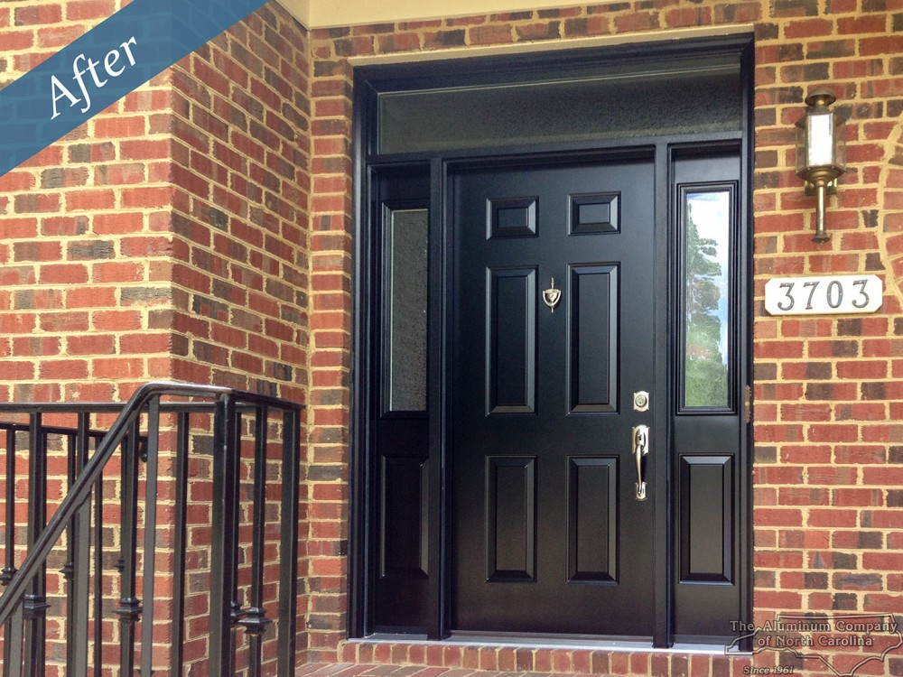 Photo By Aluminum Company Of North Carolina. Entry Door With Sidelites And Transom