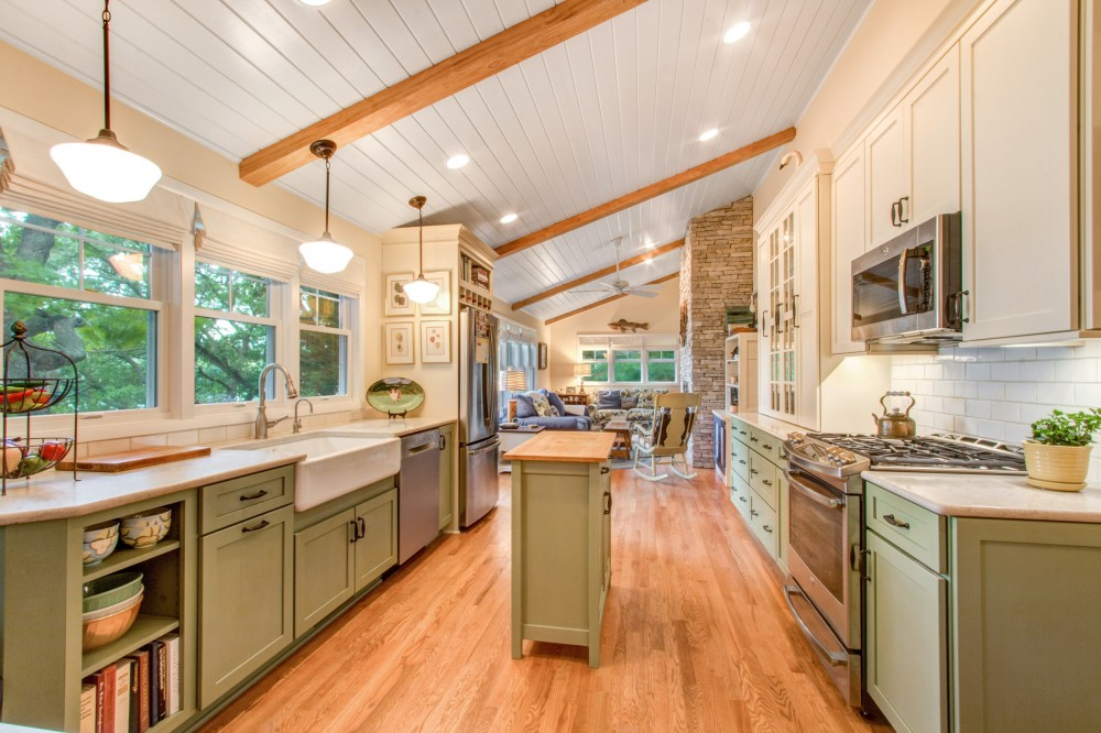 Photo By Stebnitz Builders, Inc. Cozy Kitchen On Whitewater Lake