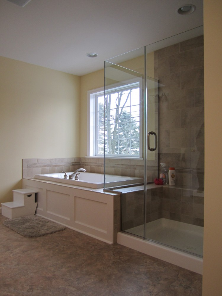 Photo By Renovations By Garman. Master Bath