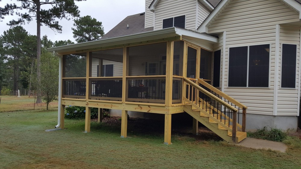 Photo By All American Exteriors. Back Porch Addition