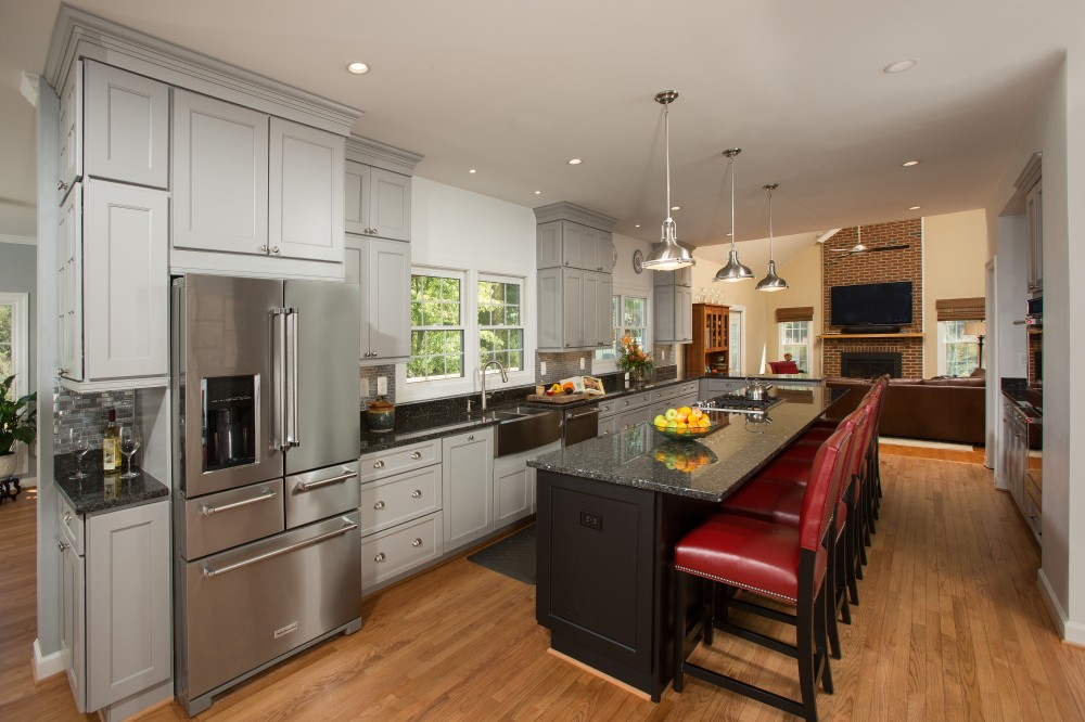 Photo By Tabor Design Build. Three Story Rear Addition & Kitchen Remodel