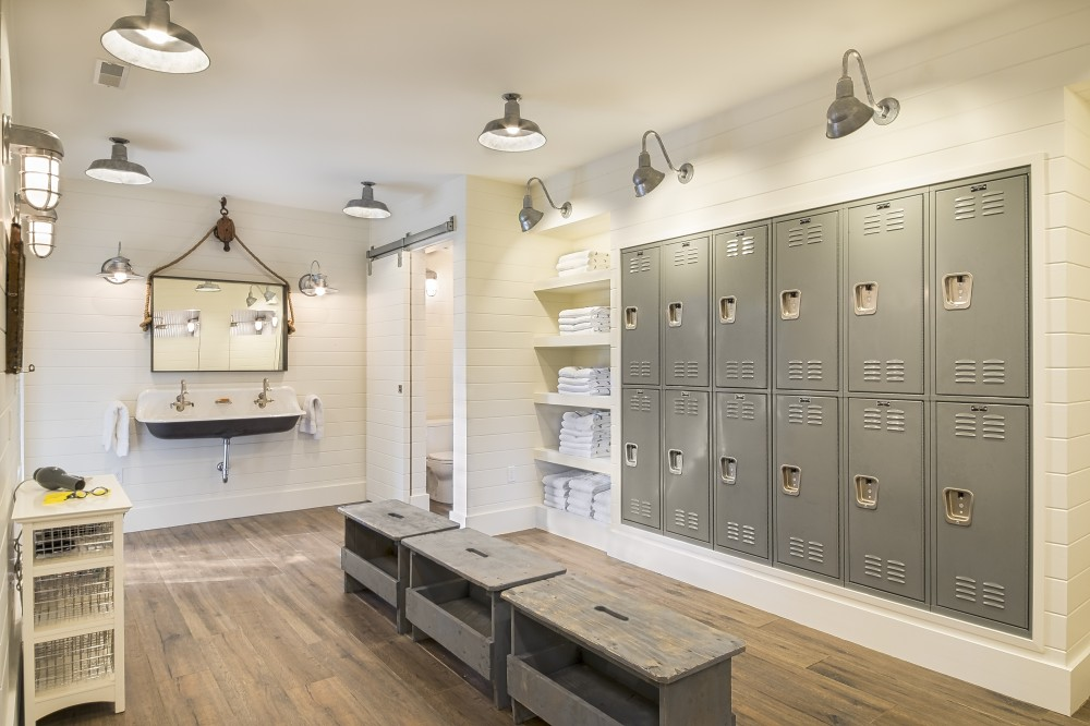 Photo By Hopkins & Porter Construction, Inc.. Pool Locker Room