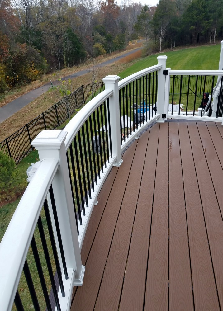 Photo By Prince William Home Improvement. Trex Curved Deck And EP Henry Patio