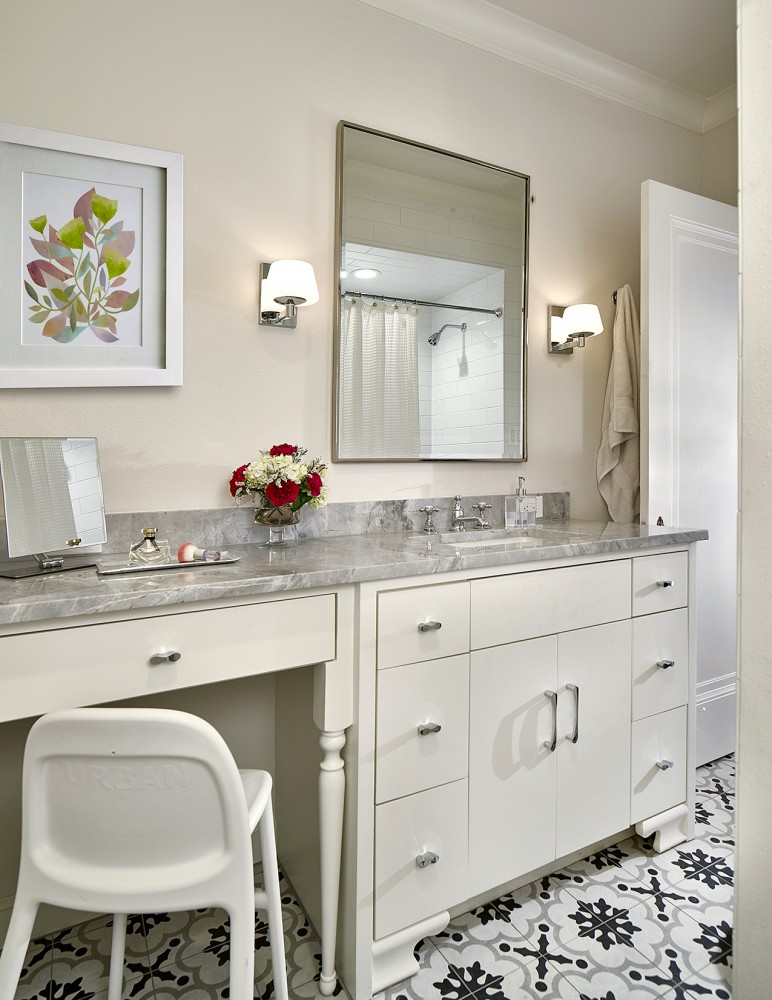 Photo By Blackline Renovations. Kitchen & Hall Bath Remodel