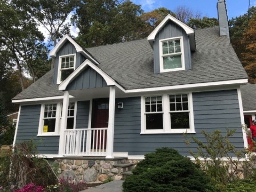 Photo By K & B Home Remodelers, LLC. James Hardie Siding