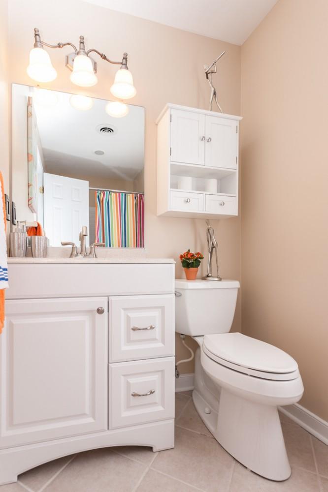 Photo By A. Leigh Construction, LLC. Bathroom Renovations