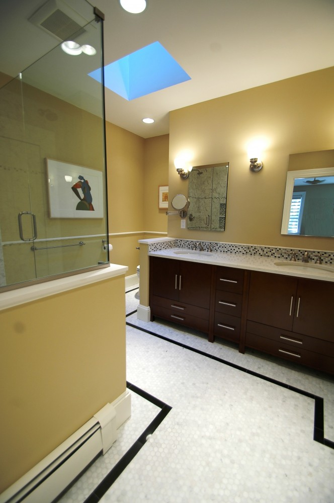 Photo By New England Design & Construction. Bathroom Remodel