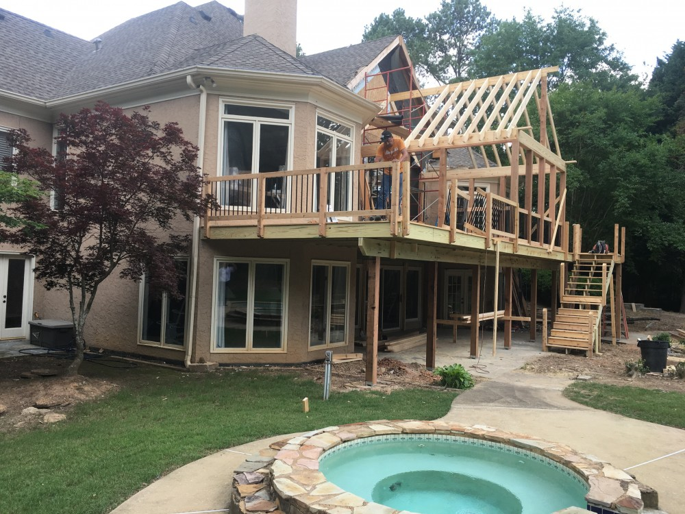 Photo By Insulated Wall Systems, Inc. Collapasing Deck